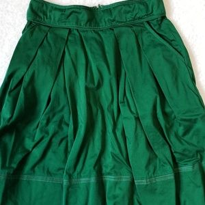 BB Dakota Cotton Blend Green Skirt Size 4